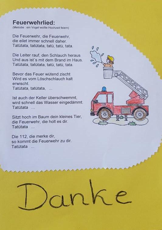 Feuerwehr Kindergarten Lied