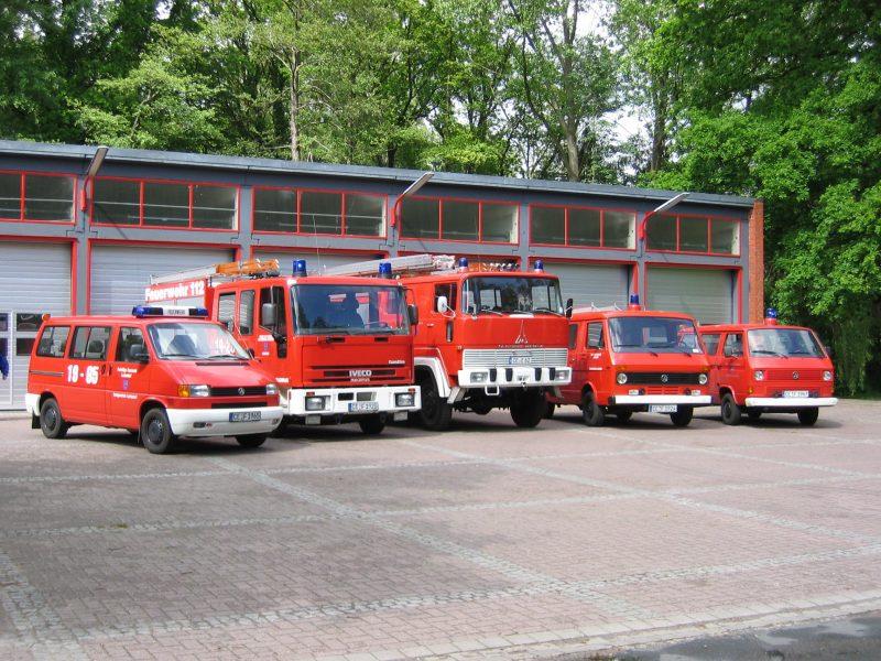 Fahrzeugpark Juibläum 2004